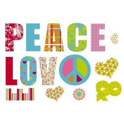 Komar Decosticker Love and Peace 100 x 70 cm