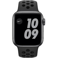 Apple Watch SE Nike GPS 40 mm Aluminiumgehäuse space grau, Nike Sportarmband anthrazit/schwarz