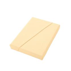 Dormisette Spannbettlaken gelb 150 cm x 200 cm