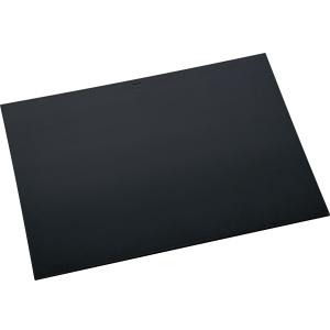 """helit """"the flat mat"""" Schreibunterlage, Rutschfeste Schreibtischunterlage aus Leder, Maße (B x L): 70 x 50 cm, schwarz"""