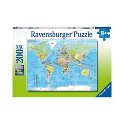 Ravensburger Puzzle XXL-Puzzle Die Welt, 200 Teile, Puzzleteile
