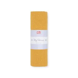 PRYM Musselin DOTS, senf/goldfarben, 1, 100% Baumwolle, Stoffe, Musselin