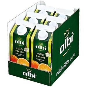 albi Milder Orangensaft 1,5 Liter, 6er Pack