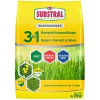 SUBSTRAL 3 in 1 Komplett-Rasendünger 9 kg