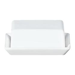 ASA SELECTION Butterdose Grande Weiß B 13.5 cm, Keramik, (1-tlg)