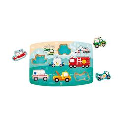 Hape Steckpuzzle Puzzle Einsatzfahrzeuge, Puzzleteile