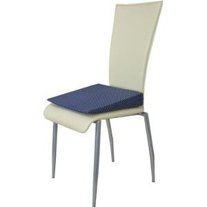 Orthopädisches Keilkissen Sitzkeilkissen Sitzkissen Sitzhilfe Kissen, blau mit Punkten