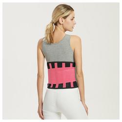 kueatily Bauchweggürtel Bauchweggurtel Sportgürtel, farbiger Taillenschutz, Bandscheibenfixierung Kraftvolles Dehnen und Verriegeln der Taille, doppeltes Gummibanddesign rosa XL