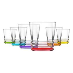 LAV Gläser-Set Whiskygläser Trinkgläser saftgläser 6er Set (6-tlg), Glas