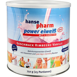 Hansepharm Power Eiweiß Plus Himbeere-Vanille Pulver