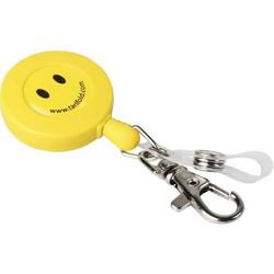 Jojo Kunststoffschlaufe/Karabinerhaken 60cm gelb Smiley VE=10 Stück