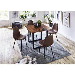 SAM® Essgruppe Miriam, 5tlg Essgruppe Miriam massiv mit 4 Schalenstühlen braun