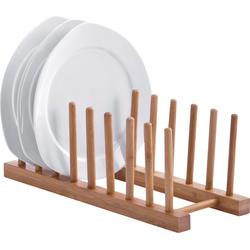 Zeller Present Geschirrständer, aus Bambus, für bis zu 8 Teller
