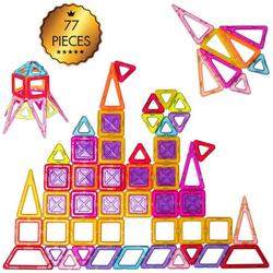 COSTWAY Spielbausteine Magnetspielzeug für Kleinkinder, (77 St)