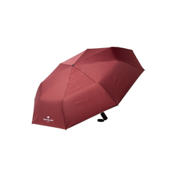 TOM TAILOR Taschenregenschirm Kleiner Automatik Regenschirm rot