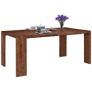Echtholztisch aus Akazie Massivholz Landhausstil