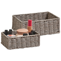 Zeller Present Aufbewahrungskorb Aufbewahrungskörbchen (Set, 2 Stück), ideal fürs Bad, Wohnzimmer oder Büro