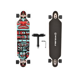 WIN.MAX Longboard WIN.MAX Longboard Skateboard, 7-lagigem Ahornholz Cruiser komplettes Board, mit ABEC-11 Kugellagern und T-Tool