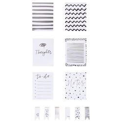 my PLANNER Notizzettel, Silber/Weiß