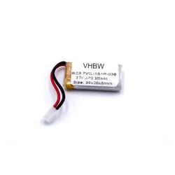 vhbw Li-Polymer Akku 390mAh (3.7V) passend für Modellbau, Drohne Walkera Genius CP, HM Mini CP-Z17, Mini CP, Mini Pet
