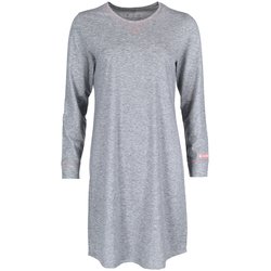 Mey Nachthemd stone grey melange, Gr. S, Baumwolle - Damen Nachthemd