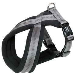 Nobby Komfort Geschirr Soft Grip dunkelgrau, Bauchumfang: 20-30 cm