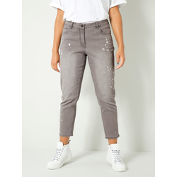 Jeans Angel of Style Grau/Weiß