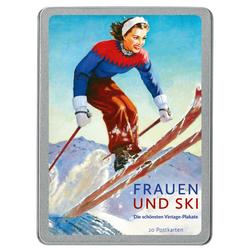 Frauen und Ski 20 Postkarten