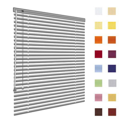 Alu-Jalousien, Jalousien, Horizontaljalousien, Farbe silber, auf Mass gefertigt oder in Standardgroessen, weitere 100 Farben verfuegbar