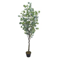 Kunstpflanze Eukalyptusbaum Eukalyptus Kunstbaum Künstliche Pflanze 165 cm Decovego, Decovego