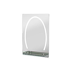 LED Badspiegel mit Glas-Ablage