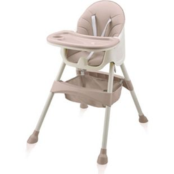 Baby Vivo Design 2in1 Kinderhochstuhl - Oscar in Pink