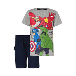 The AVENGERS T-Shirt Marvel Avengers Set T-Shirt + Shorts für Jungen 164/170