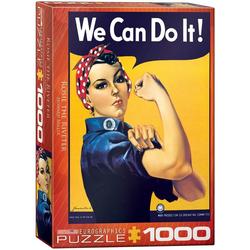 empireposter Puzzle American Classics We can do it - 1000 Teile Puzzle - Format 68x48 cm, 1000 Puzzleteile