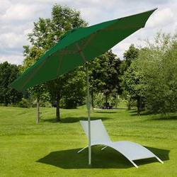 Sonnenschirm Asti, Gartenschirm, Ø 3m neigbar Polyester/Alu 5kg ~ grün