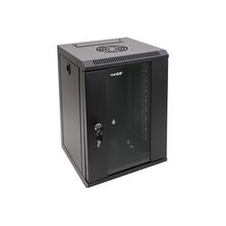 HMF Serverschrank 10 Zoll, 6-12 HE Netzwerk-Switch (9 HE, Netzwerkschrank voll Montiert, 31,2 x 30 x 48,3 cm, Schwarz) schwarz 31.2 cm x 48.3 cm x 30 cm