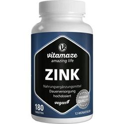 ZINK 25 mg hochdosiert vegan Tabletten 180 St.