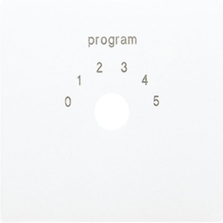 Jung LS594-9WW,Abdeckung für Programmwahlschalter, Thermoplast, Serie LS, alpinweiß