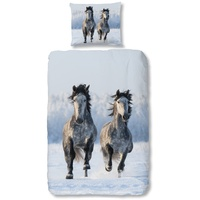 Good Morning Schnee Pferd bunt (135x200+80x80cm)
