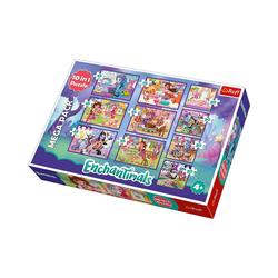 Trefl Puzzle 10in1 Puzzle 20/35/48 Teile - Enchantimals, Puzzleteile