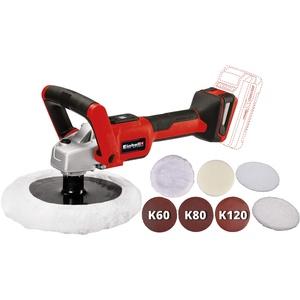 Einhell 2093320 CE-CP 18/180 Li E-Solo Akku-Polier- / Schleifmaschine + Polierhauben passend für CE-CB 18/254 Li, CC-PO 90 und BT-PO 90