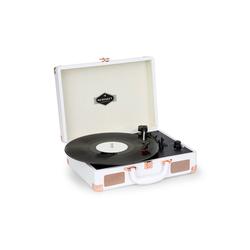Auna Nostalgy by auna Peggy Sue Retro-Plattenspieler LP USB AUX MDF-Koffer Kunstled Plattenspieler