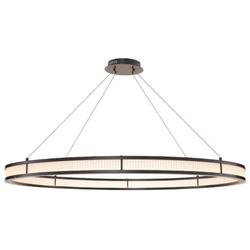 Casa Padrino Luxus LED Kronleuchter Bronzefarben / Weiß Ø 139 cm - Moderner runder Kronleuchter - Wohnzimmer Kronleuchter - Hotel Kronleuchter