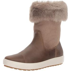 ECCO Damen Soft 7 TRED Boot Hohe Stiefel High-cut Boot, Braun (Navajo Brown/ Moon Rock 57511), 39 EU