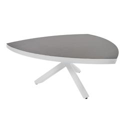 Gartentisch mit einem Gestell aus Aluminium in hellgrau und einer Keramik Tischplatte, Maße: B/H/T ca. 170/74/170 cm