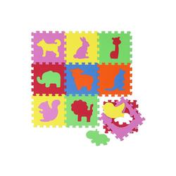 LittleTom Puzzlematte Baby Puzzlematte ab 0 Kinder Spielmatte, 10 Puzzleteile, EVA Krabbelmatte Zoo Tiere