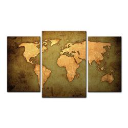 Bilderdepot24 Leinwandbild, Leinwandbild - Weltkarte 100 cm x 60 cm