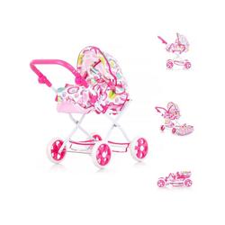 Chipolino Kombi-Puppenwagen Puppenwagen Nelly, klappbar, Griff höhenverstellbar, Korb, verstellbar rosa