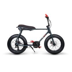 Ruff Cycles Retro Elektrische Fatbike Bosch Middenmotor Lil'Buddy 500Wh Zwart