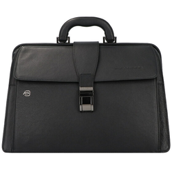 Piquadro Black Square Aktentasche Leder 37 cm black